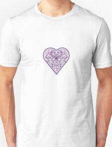 Ironwork heart purple Unisex T-Shirt