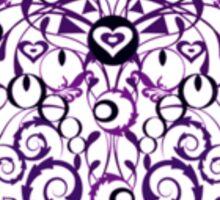 Ironwork heart purple Sticker