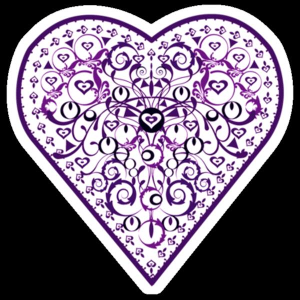 Ironwork heart purple by venitakidwai1