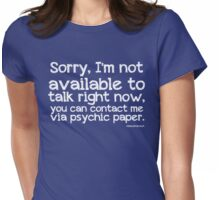 Via Psychic Paper. Womens Fitted T-Shirt