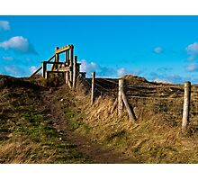 Fence and stile Photographic Print