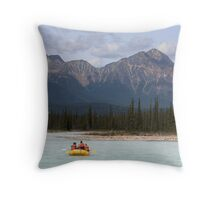 Rafting the Rockies Throw Pillow