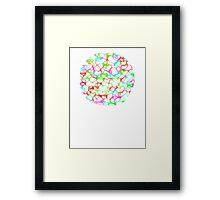 Circle of HeArts  - JUSTART © Framed Print