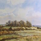 Castle Hill, Wittenham Clumps by Patsy L Smiles