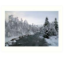 New year's eve - snowy Korlevoll Art Print