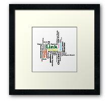 Legend of Zelda Word Art Framed Print