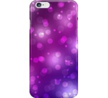 Purple and Blue Bokeh  iPhone Case/Skin