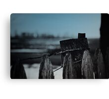 Blu Fence Canvas Print