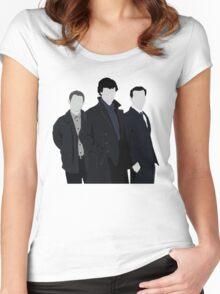 Sherlock,John and Jim Women's Fitted Scoop T-Shirt