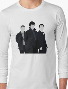 Sherlock,John and Jim Long Sleeve T-Shirt