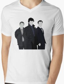 Sherlock,John and Jim Mens V-Neck T-Shirt