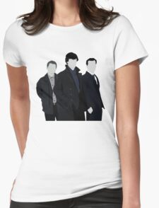 Sherlock,John and Jim Womens Fitted T-Shirt
