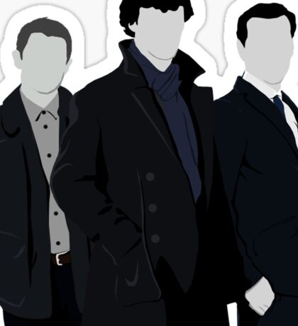 Sherlock,John and Jim Sticker
