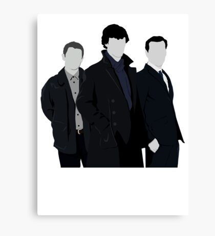 Sherlock,John and Jim Canvas Print