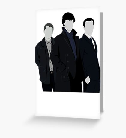Sherlock,John and Jim Greeting Card