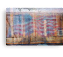 Train Car USA Canvas Print