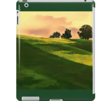 Vibrant Rolling Green Fields at Sunset iPad Case/Skin