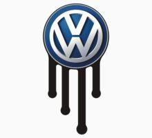 Blue VW Drip Logo by Volkswagen Guy