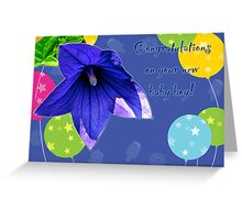 Baby Boy Congratulations Card - Balloons Greeting Card