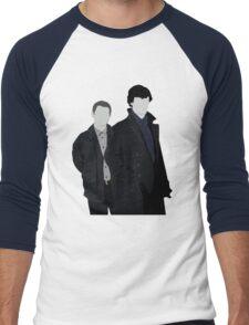 Sherlock and John Men's Baseball ¾ T-Shirt