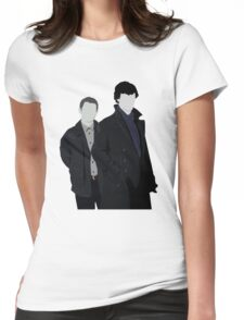 Sherlock and John Womens Fitted T-Shirt