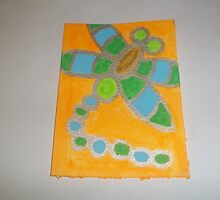 Vibrant Dragonfly ACEO Card by Dean Kealy
