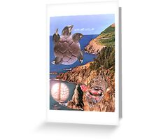 Migration to Dolphin Coast. Greeting Card
