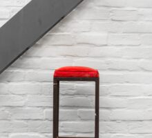 Red Stool Sticker