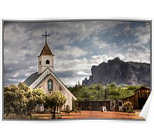 Chapel in the Superstition Mountains Poster