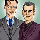 Mycroft & Lestrade by Macpye