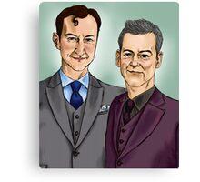 Mycroft & Lestrade Canvas Print