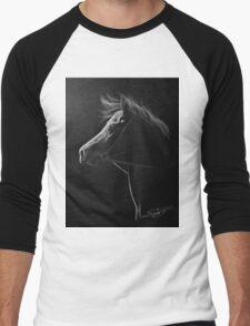 """""""The Softest Light"""" - Kathiawari Mare Men's Baseball ¾ T-Shirt"""