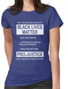 Black Lives Matter Movement Synopsis Womens Fitted T-Shirt