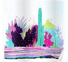 Cacti Watercolour Allsorts Poster