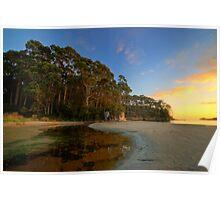 Bruny Island sunrise at Quiet Corner HDR - Tasmania, Austalia Poster