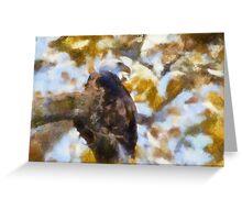 bald eagle perching 2 Greeting Card