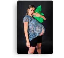 9 month pregnant woman  Canvas Print
