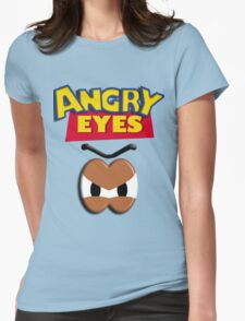 Angry Eyes Womens Fitted T-Shirt