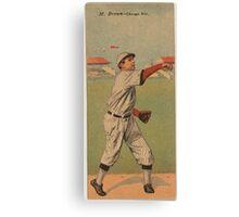 Benjamin K Edwards Collection Mordecai Brown Arthur Hofman Chicago Cubs baseball card portrait Canvas Print