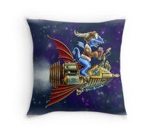 Verne's Steamrocket Throw Pillow