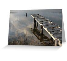Weathered Dock Greeting Card