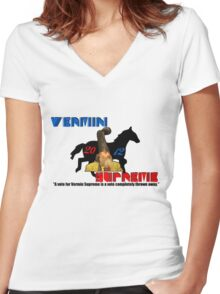 Vermin Supreme Women's Fitted V-Neck T-Shirt