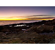 Nerves coast at sunset Photographic Print