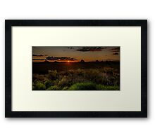 Glass House Mts Sunset Framed Print