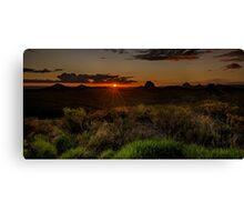 Glass House Mts Sunset Canvas Print