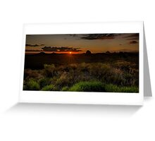 Glass House Mts Sunset Greeting Card