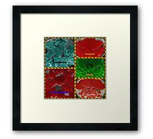 Sugar Free Low Carb Gummies Collage Framed Print