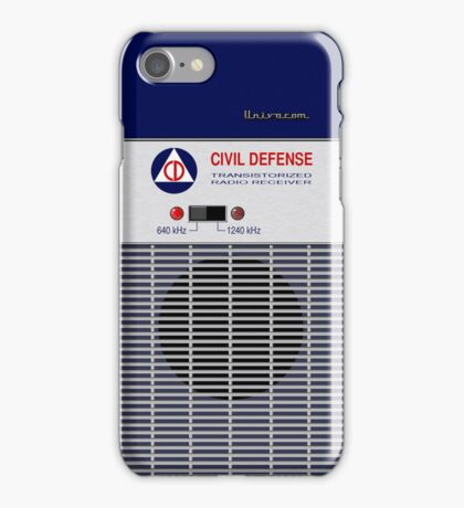 Civil Defense Radio iPhone Case/Skin