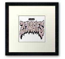 FBZ White & Red Framed Print
