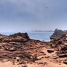 Beach on Mars by astrolabio